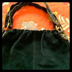 Lucky Brand Black Suede Bag